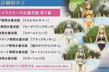 泳装绝不缺席!《莱莎2》发售后更新&DLC情报公开
