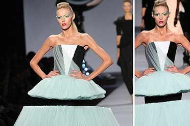 少女模特走秀下半身惨遭切断?不可思议的真实照片!