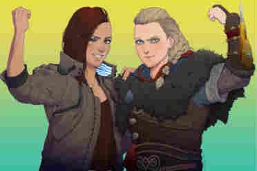 《刺客信条》与《赛博朋克》官推互动 双女主同人图!