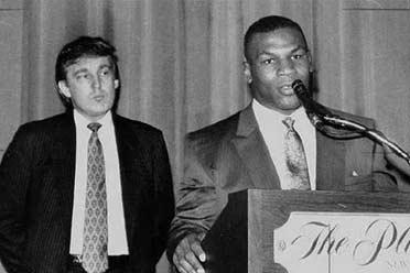 冷知识:特朗普曾是泰森的经纪人!没人比他懂拳击!