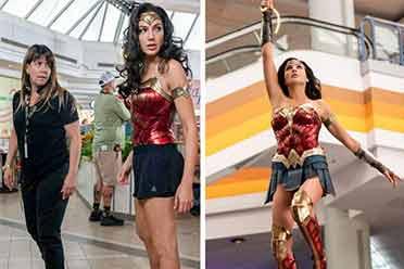 去掉电影特效的幕后照:神奇女侠远比想象的要运动风!