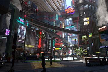 《赛博朋克2077》新光照MOD 还原18年E3演示风格