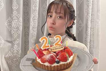 桥本环奈晒22岁生日照:可爱造型引热议!妹妹瘦了!