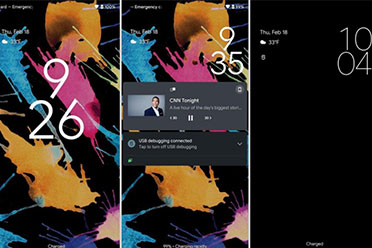 Android 12锁屏和通知界面曝光!数字时钟字体超大