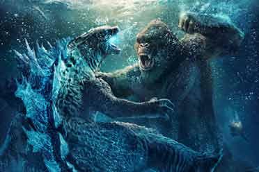 《哥斯拉大战金刚》引进内地:公布水下激战版海报!