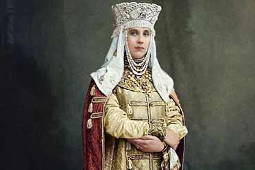 1903年俄罗斯伯爵夫人娇艳动人!15张彩色历史照片!