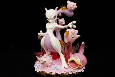 《宝可梦》糖果系列超梦雕像 粉嫩Q萌让人蠢蠢欲动