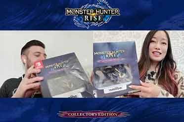 《怪物猎人:崛起》收藏版开箱 怨虎龙amiibo超帅气