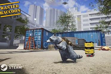 模拟竞技游戏《被通缉的浣熊》开启Steam抢先体验!