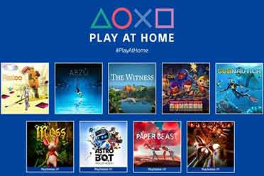 "PSN喜加9!索尼""Play At Home"":九款游戏免费领!"