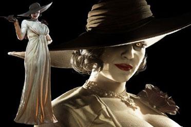 《生化8》吸血鬼夫人巨型立牌 近1:1比例 高逾2.5米