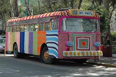 国外的公交车还会套上十字绣?15张大开眼界的照片