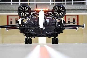 俄罗斯首款滚翼式飞行汽车Cyclo-car:预计2022年升空