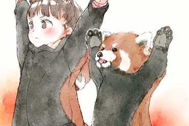 乡民激推「幼稚园女孩的日常」插画!再现小浣熊威吓!