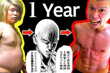 日本网红挑战《一拳超人》训练法:肚腩到腹肌人鱼线!