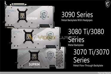 微星 RTX 3080 Ti 和 RTX 3070 Ti 曝光:5月29日发布