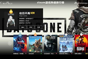 05.17-05.23全球游戏销量榜:《往日不再》屠杀第一