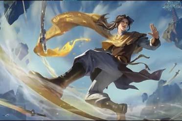 《王者荣耀》公布李逍遥皮肤演示视频:御剑乘风来!