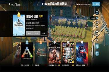 05.31-06.06全球游戏销量榜:《前往中世纪》销量奇高