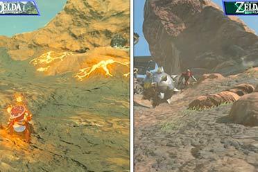《塞尔达传说:荒野之息2》与前作画面对比视频赏!