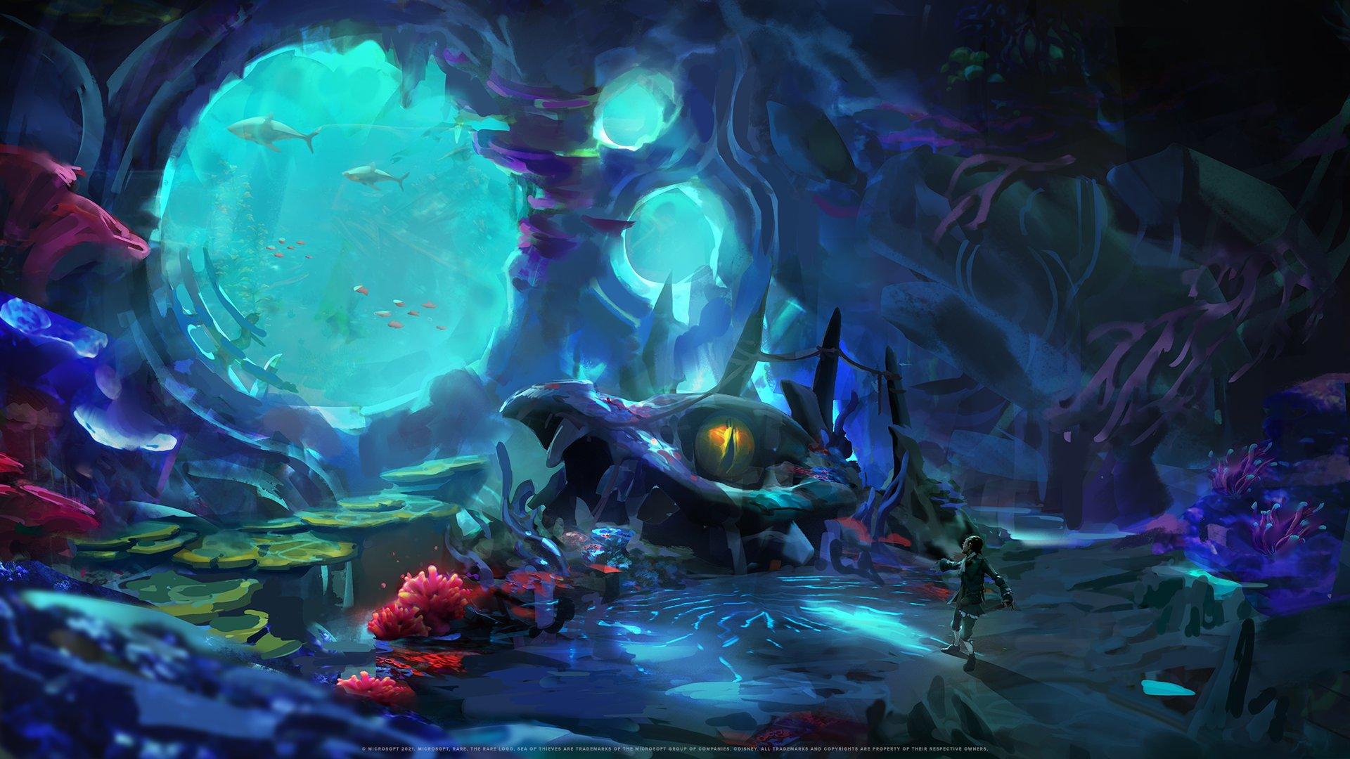 水底沉船氛围拉满!《盗贼之海》新地点概念艺术图赏