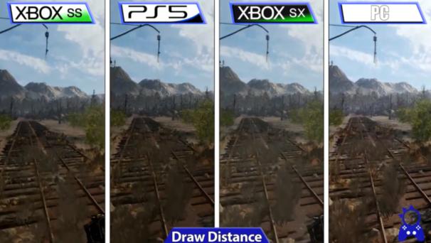 《地铁离去》增强版次世代主机对比 Xsx平均分辨率更高