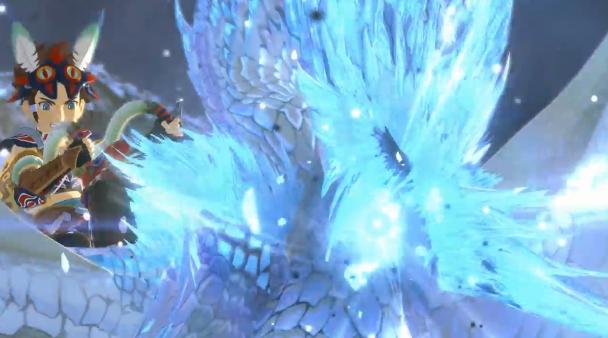 《怪猎物语2》CM《怪物猎人世界》篇公开 冰咒龙登场