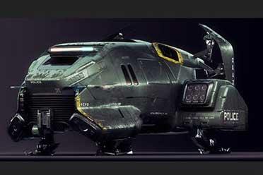 《赛博2077》曝海量概念图 海量军事重型飞行器展示