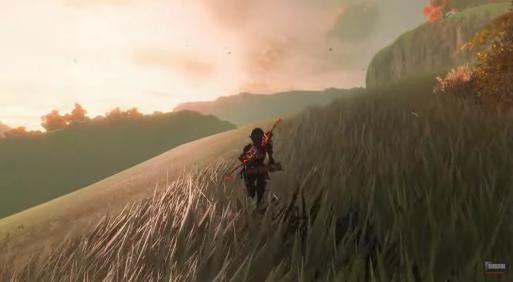 《塞尔达:荒野之息》8k光追重着色运行 画面震撼!