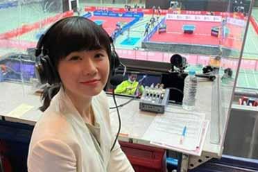 哎呀妈呀,这球,贼六!福原爱出席东京奥运会担任球评