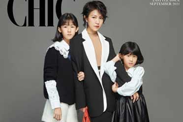 陆毅娇妻鲍蕾与女儿绝美合照:两女儿亭亭玉立貌美如花