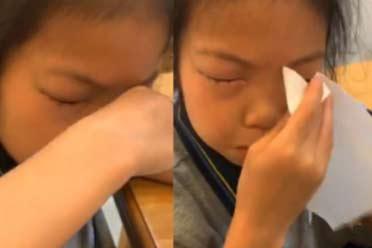 世上真有不能学习的病?9岁小女孩一做数学就眼睛过敏