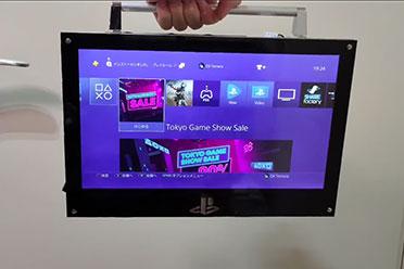 大神自制手提PS4!仅重2.2kg可户外携带 但有一个缺点