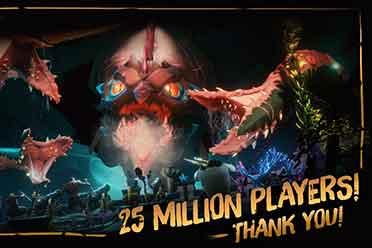 《盗贼之海》玩家数破2500万!登录游戏抽取2500万金币