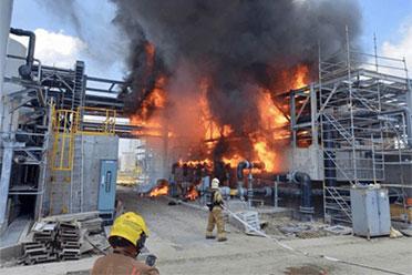 台积电在建中的再生水厂着火!目前火势及时被控制