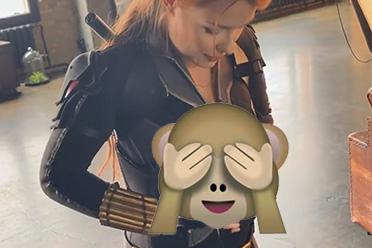 乌克兰美女网红Cos黑寡妇穿紧身衣 因身材太好爆衣