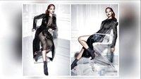 蕾哈娜穿黑色渔网装为杂志拍片 大秀傲人上围