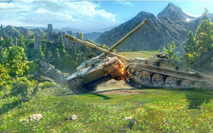 【坦克世界】不悔有你征战美服--霸王FV183万伤实录