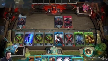 《Artifact》套牌介绍与实战-蓝绿无限费4.第三局