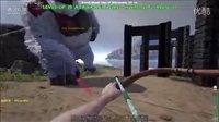 【峻晨解说】从零开始MOD32-神兽卡在巨石门!开始无限死模式、几个人让猴给耍了-方舟