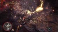 《怪物猎人世界》盾斧历战炎王龙超怂向打法