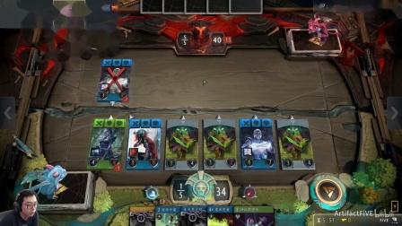 《Artifact》套牌介绍与实战-蓝绿无限费6.第五局