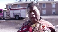 美国黑人大妈火灾逃生的采访展现非凡的说唱天赋