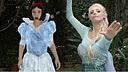 迪士尼公主撕X大战第二波 白雪公主vs冰雪女王