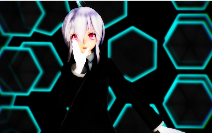[MMD]黑♀丝制♀服弱音Lamb~[渲染测试向](共2P1080P)