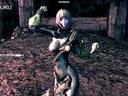 剑灵舞蹈 高挑龙族妹子动感热舞乳摇喷血诱惑