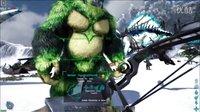 【峻晨解说】独狼生存66-X武器超级麻醉枪!一枪上万眩晕、秒晕剧毒精英霸王龙!-方舟生存进化