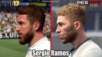 【游侠网】《FIFA17》VS《实况2017》球员对比